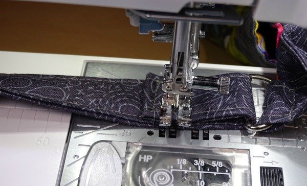Sew straps for a bag