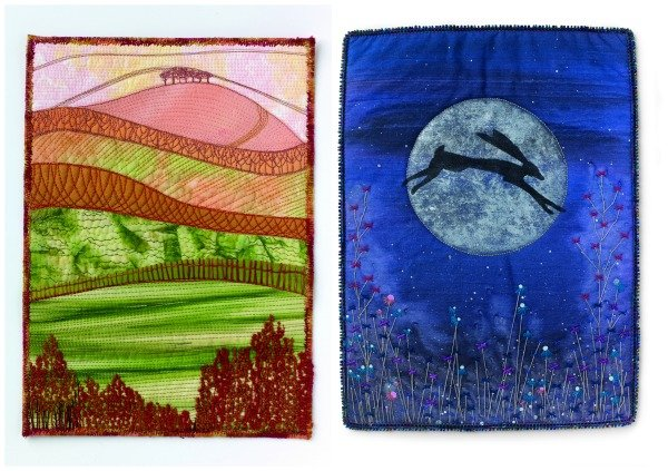 How to make small painted art quilts