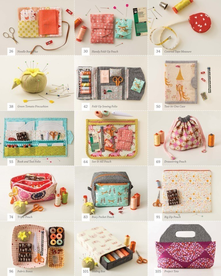 Projects from Aneela Hoey's Stitched Sewing Organizers