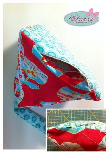 Make a doorstop from fabric
