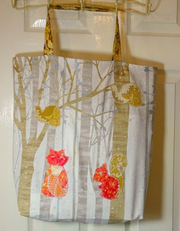 Woodland shopping tote project
