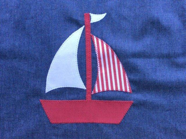 Boat applique tote project