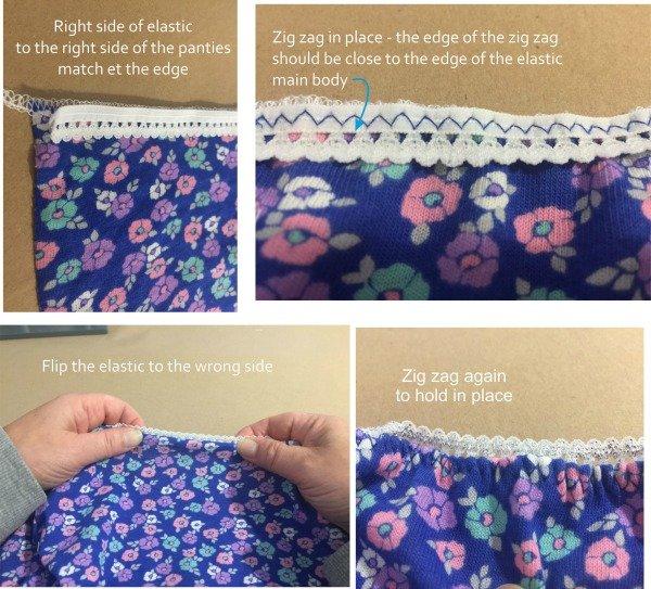Sewing knicker elastic