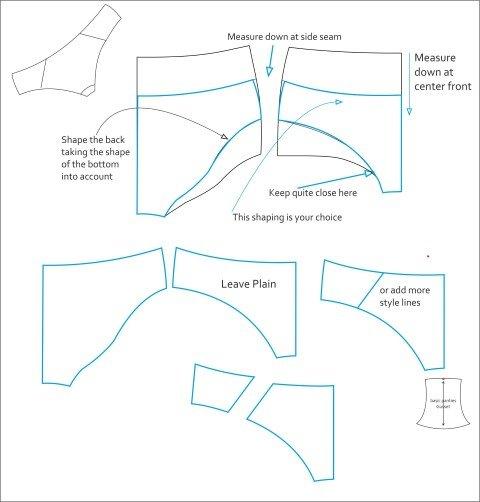 Sew slip style knickers