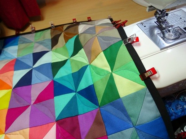 Adding binding to a mini quilt