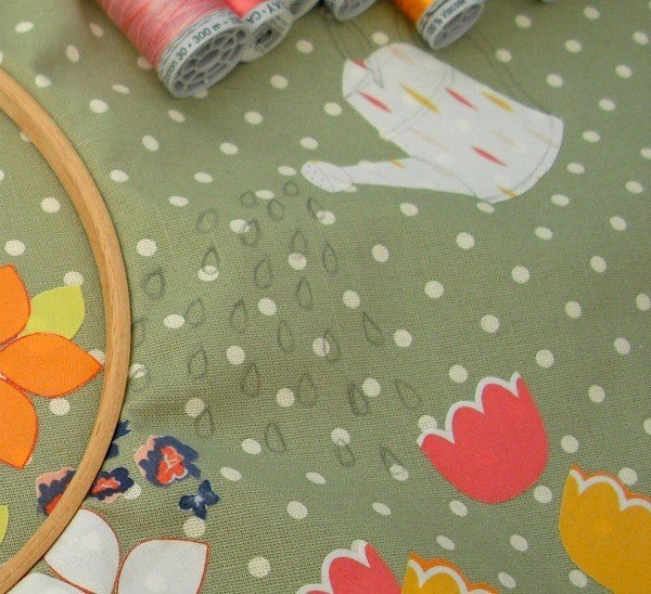 Marking a design on fabric