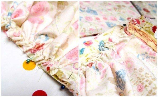 Gathering skirt fabric