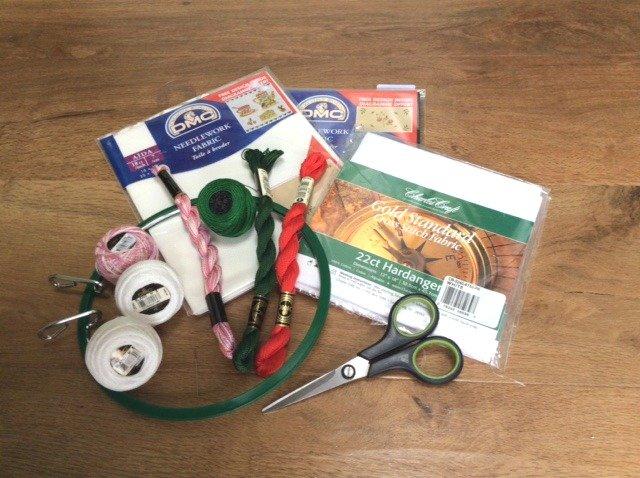 Materials for hand embroidery