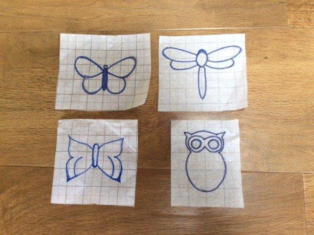 Draw motifs for beadwork