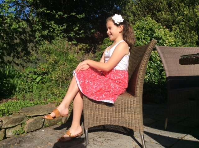 Free tiered ruffle skirt pattern for girls