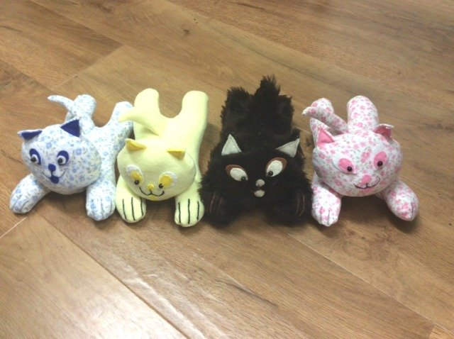 Cuddly cat soft toys