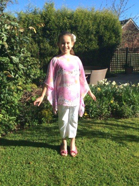 Cute kimono top tutorial for kids