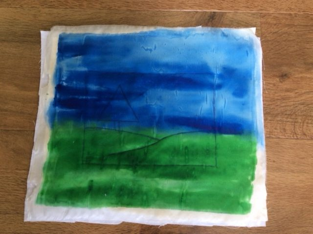 Making a silk painted picture