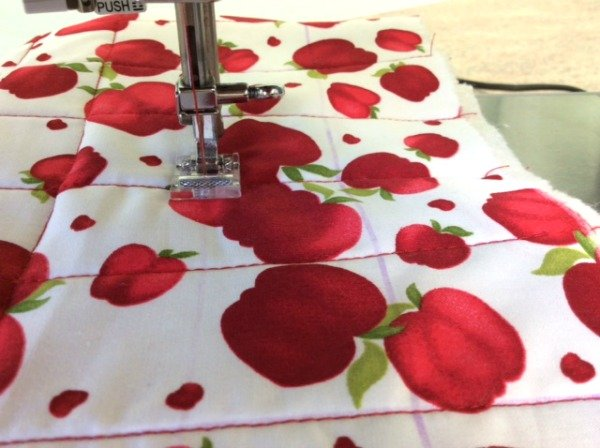 How to straight line quilt