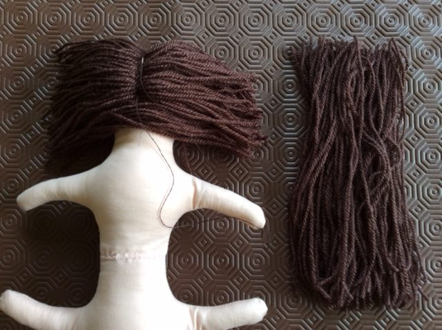 How to make doll hair from yarn