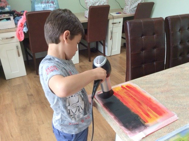 Creative textiles project for kids
