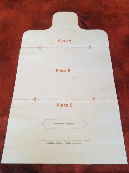 Pattern for a mini iPad case