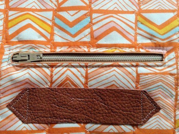 Sew an internal pocket with zip