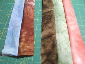 Sewing jelly roll strips