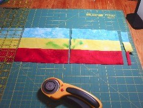 Sewing with precut strips