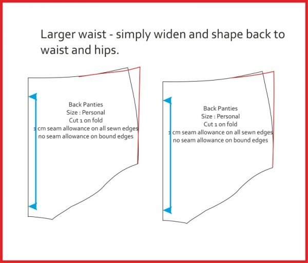 Adjusting the waist on a pants pattern