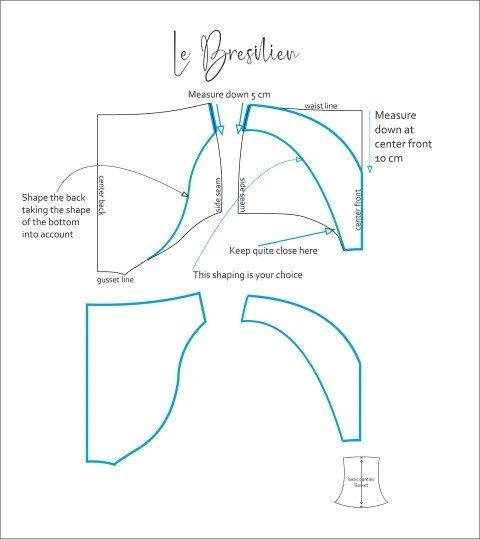 PAttern for Le Bresilein pants