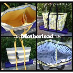 Motherload tote bag pattern