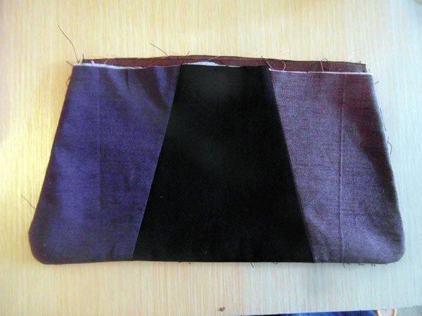 Shot cotton evening bag to sew