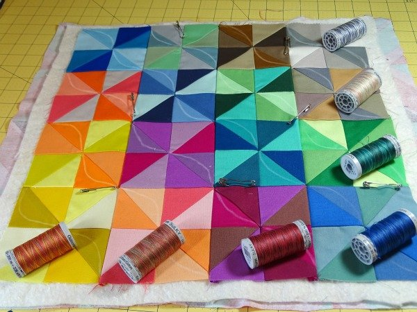 Quilting with Gutermann variegated thread