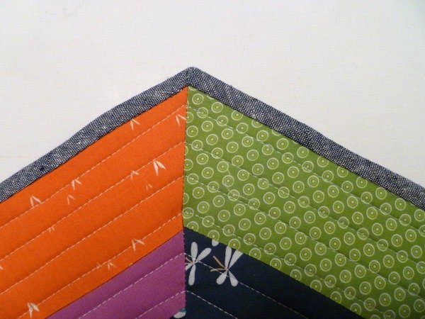 Binding on a small quilt