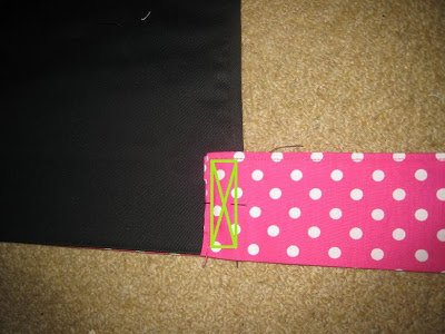 Sew on apron ties