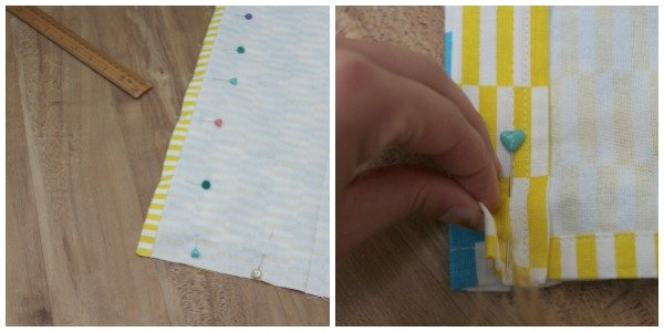 Easy way to sew a drawstring bag