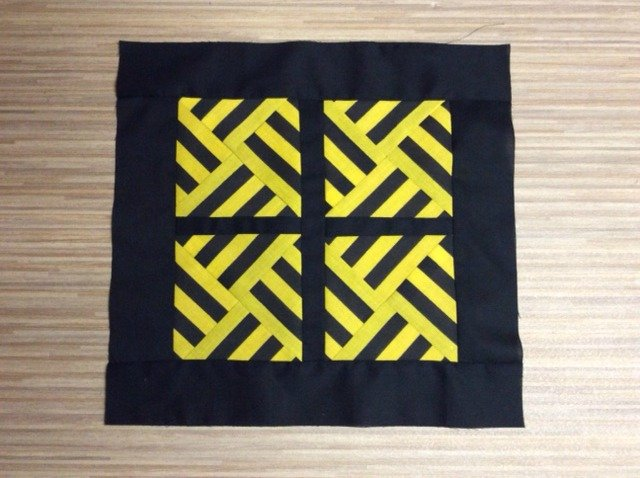Quilting with stripey triangles