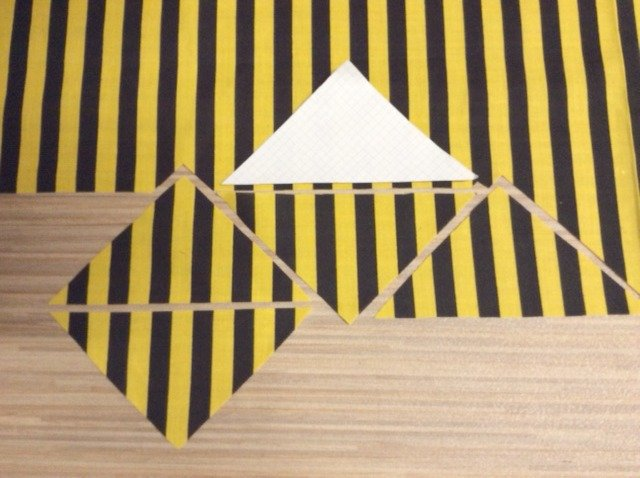 Exploring creative options with striped triangles