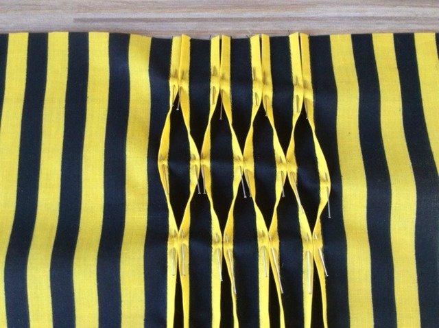 How to sew honeycomb pin tucks