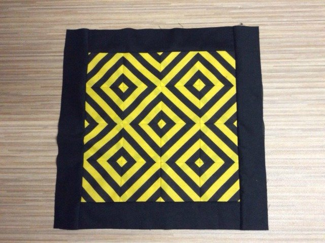 Creative quilting with stripey fabric