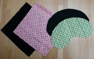 Pattern pieces for an eye mask