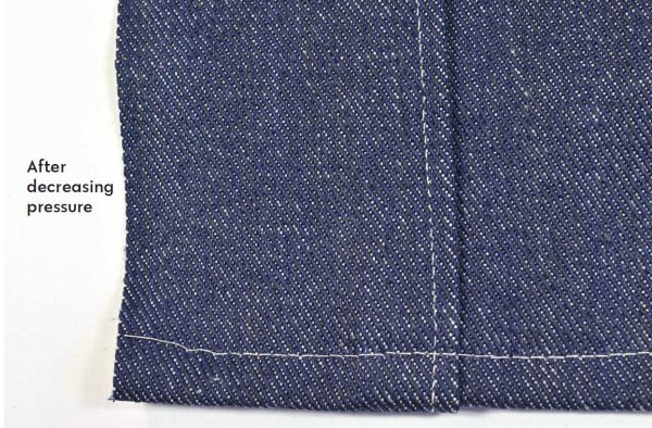 Sewing jeans - optimum settings on a sewing machine