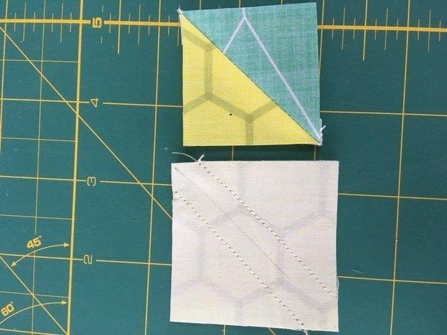 Quilt blocks that use half square triangles