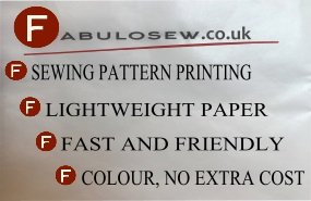 Sewing pattern printing