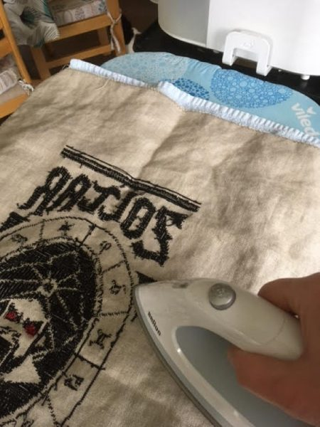 How to press an embroidery