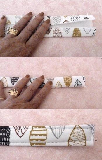 How to make a fabric bag strap