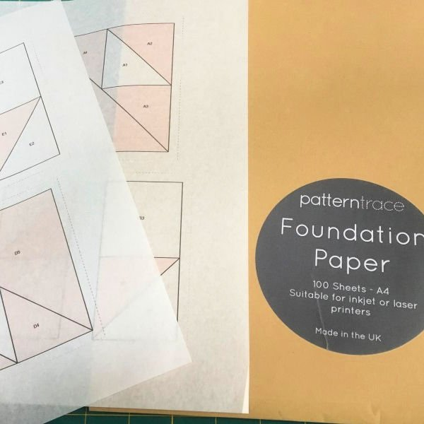 British made foundation paper for quilters