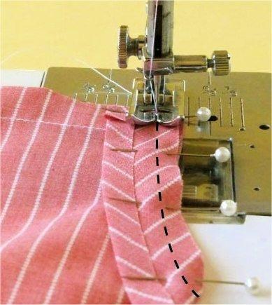 How to sew bias binding onto a garment