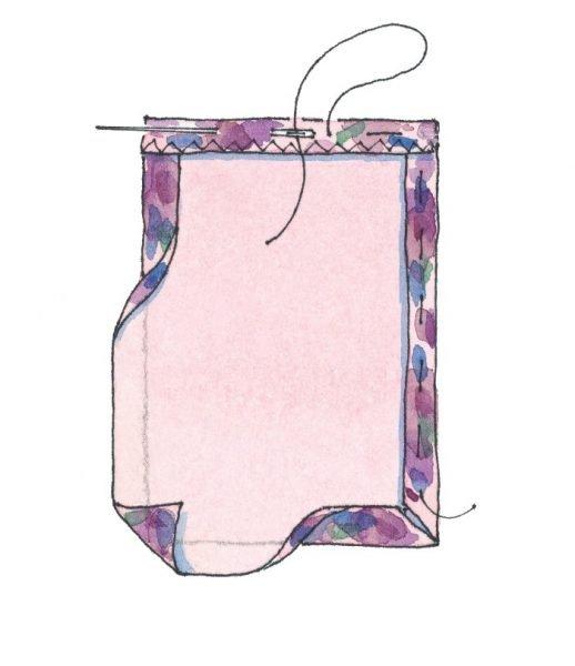 How to baste fabric