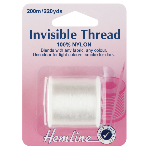 How to sew with invisible thread