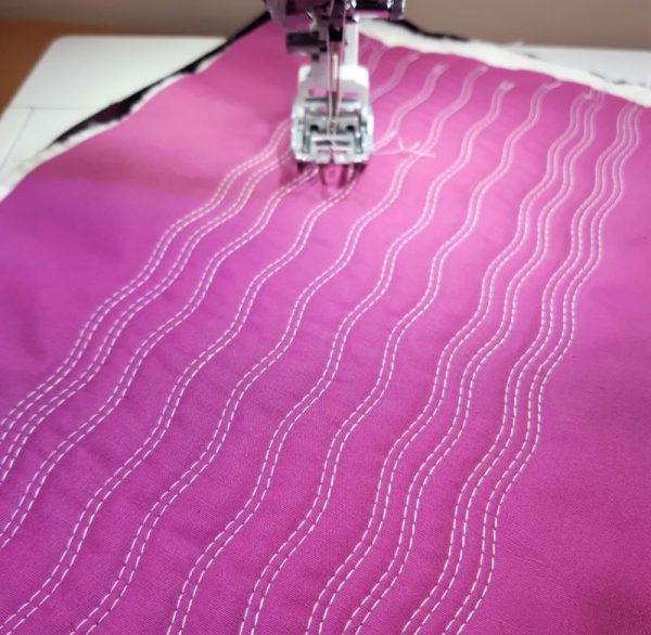 How to do twin needle serpentine quilting