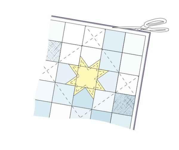 How to trim a quilt before binding