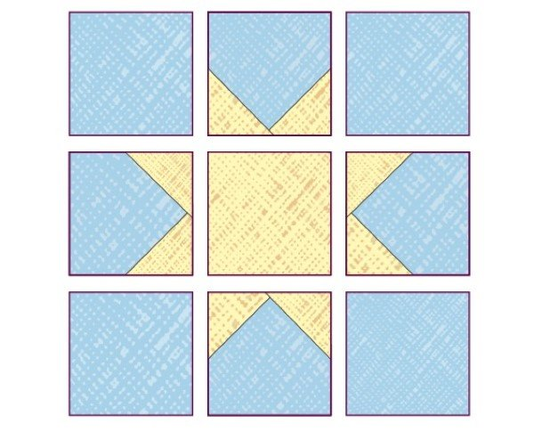 How to make a freeform star quilt block