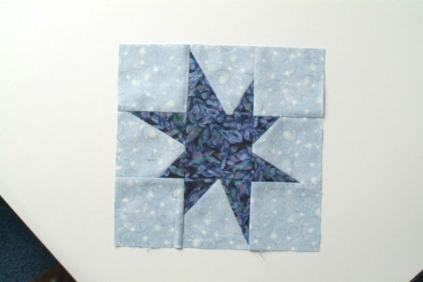 Crazy star quilt block